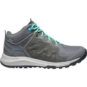 Keen Explr Mid WP Shoes Women Steel Grey/Bright Turquoise